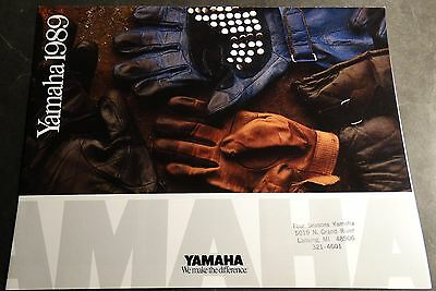 1989 Yamaha Motorcycle & Atv Sales Brochure 8 Pages Nice Poster Size  (328)