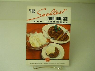 1936 The Sealtest Food Adviser For December Recipes 15 Pages 1936