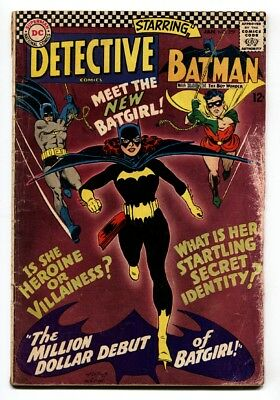 Detective #359 comic book First appearance of BARBARA GORDON BATGIRL ORACLE vg-