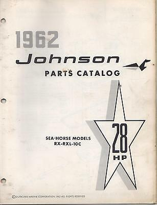 1962 Johnson Sea-Horse Outboard 28 Hp, Rx-Rxl-10C  Parts Manual (230)