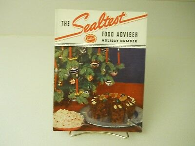 1937 The Sealtest Food Adviser Holiday Recipes 15 Pages 1937