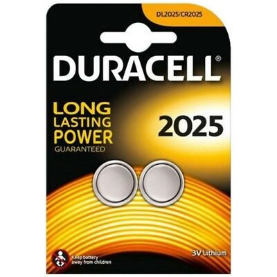 2 X Duracell Cr2025 3V Lithium Coin Battery Cell 2025, Dl2025/br2025/sb-T14 Coin