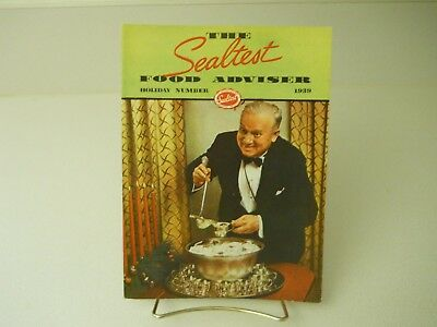 The Sealtest Food Adviser Holiday Number 1939 Recipes 15 Pages