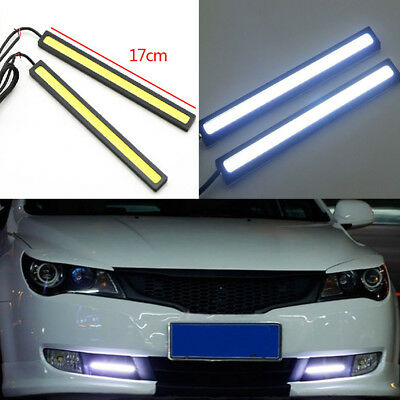 10PC 12V Waterproof White DRL LED Strip Lights Bars Camping Caravan Boat Car COB