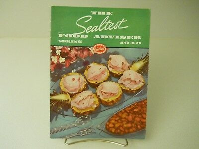 The Sealtest Food Adviser Spring 1940 Recipes Book 15 Pages