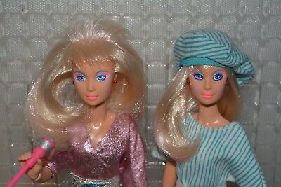 Vintage Hasbro Jem and the holograms doll x2 Original Jerrica First edition NICE