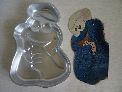 Cookie Monster Birthday Cake Tin Mould Sesame Street Muppets 1977 Wilton - RARE