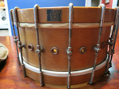 Vintage WALBERG & AUGE 30's-40's  MAPLE snare drum, sounds great. Its BEAUTIFUL!