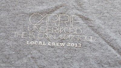 "CARRIE UNDERWOOD ""Blown Away"" Tour 2013 Local Crew Shirt Size XL"