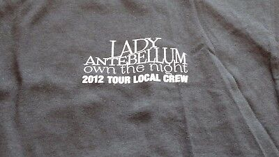 "LADY ANTEBELLUM ""Own the Night"" Tour 2012 Local Crew Shirt Size XL"