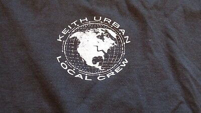 KEITH URBAN Tour Local Crew Shirt Size XL