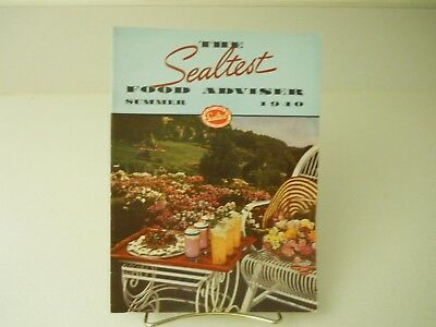 The Sealtest Food Adviser Summer 1940 Recipes Book 15 Pages