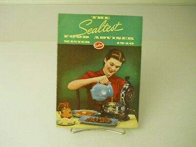 The Sealtest Food Adviser Winter 1940 Recipes Book 15 Pages