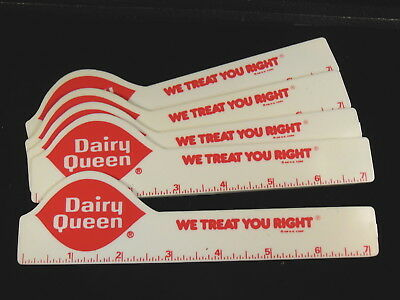 Lot Of 6 Unused   Dairy Queen  Rulers   7 Inches  Promotional  Mint Shape