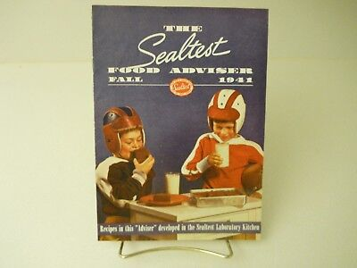 The Sealtest Food Adviser Fall 1941 Recipes Book 11 Pages