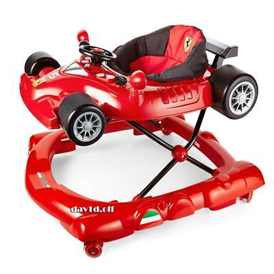 Licensed Sturdy Scuderia Ferrari Car Baby Walker Vibrating Acvity Play Centre