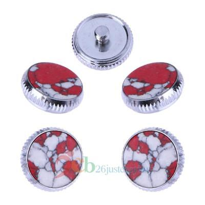 3pcs Trumpet Finger Key Buttons for Repairing Parts Set Rhinestone Shell Buttons