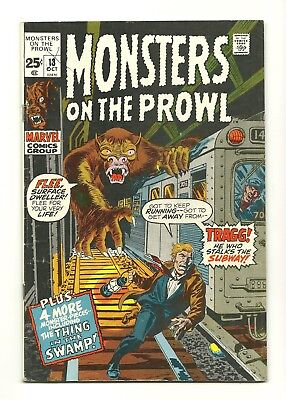 MONSTERS ON THE PROWL #13 Marvel Horror Monsters VG (4.0)