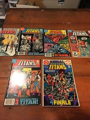 Tales Of The Teen Titans 41-45 Annual 3 Judas Contract 1st Nightwing Dc Comics