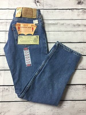 NWT 31x30 LEVIS 501 jeans button fly vintage 1994 blue jeans made USA Levi's 501