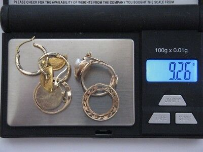 9.2 Grams 14K-22K Yellow Gold SCRAP (or Wear) from Jewelry, Coin, Marked/Tested