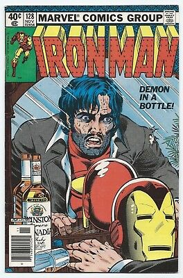 Iron Man #128 VF (Nov 1979, Marvel) Demon in a Bottle. Iconic Alcoholism Issue!