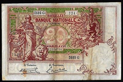 20 Francs From Belgium 1920 MM11