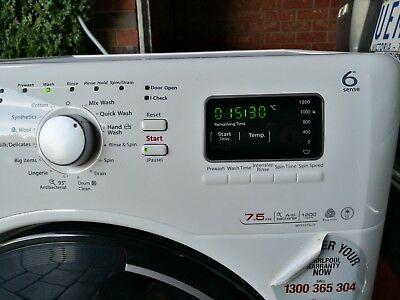 Whirlpool Series 6 front load washer 7.5kg load