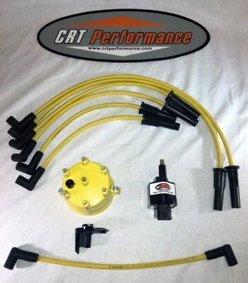 JEEP YJ XJ 2.5L 4CYL IGNITION TUNE UP UPGRADE KIT YELLOW Wrangler Cherokee 94-97