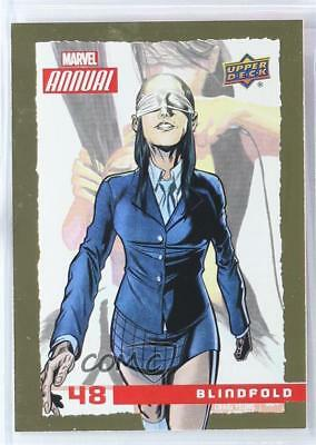2016 Upper Deck Marvel Annual Gold #48 Blindfold Non-Sports Card 1i7