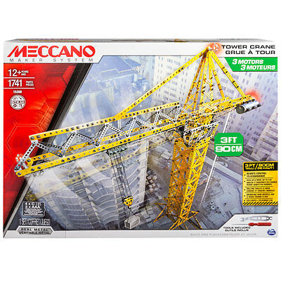 Meccano Elite Tower Crane Kit 1741Pcs - 15308