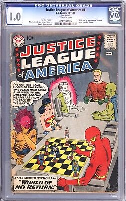 Justice League of America #1, 1960 DC,  graded CGC 1.0  SN 0249597005 Movie