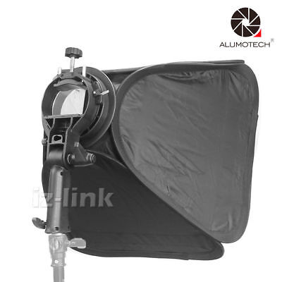 "Carry Bag+16""X16""Softbox With Egg Crate S-type Speedlite Flash Bracket Mount"