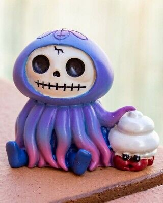 FurryBones Jelly Figurine Jellyfish Cute Cool Skull Gift Skeleton Gothic Seafood