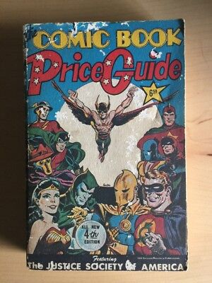 *signed* Overstreet Comic Book Price Guide #4 1974 Comicbook