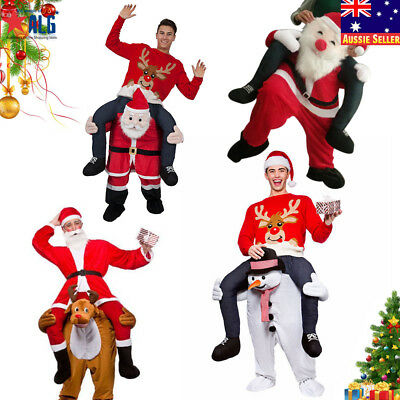 Carry Me Christmas Mascot Costume Ride On Piggy Back Pants Adults Fancy Dress