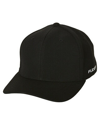 New Flex Fit Men's Mini Ottoman Flexfit Cap Cotton Fitted Black