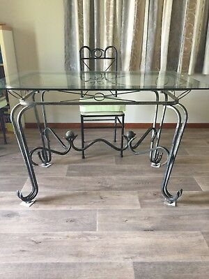Dining room glass top table with 4 chairs