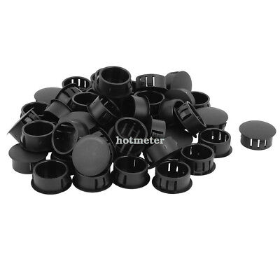 50Pcs SKT-22 Plastic 22 mm Dia Snap in Type Locking Hole Connectors Button Cover