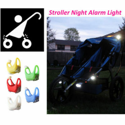 For Baby Stroller Bicycle Night Silicone Caution Light Lamp Night Out Safety TR