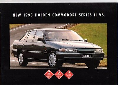 1993 Holden Vp 2 Commodore/berlina Brochure