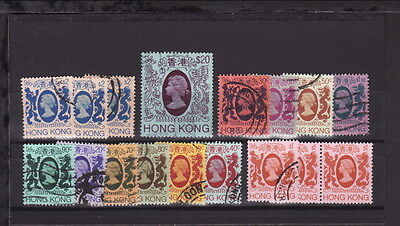 1982 HONG KONG QEII Definitive Small Lot STAMPS to $20 - USED (L124)
