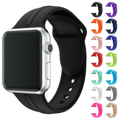 Silicone Sport Band Strap For Apple Watch 1/2/3 Series 38 42 iWatch 38mm 42mm