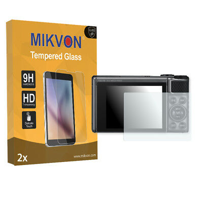 2x Mikvon flexible Tempered Glass 9H for Canon PowerShot SX730 Screen Protector