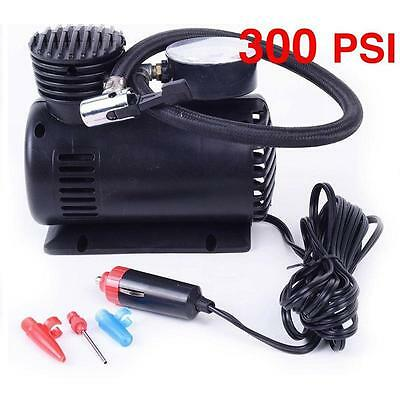 300PSI C300 12V Mini Air Compressor Auto Car Electric Tire Air Inflator Pump New