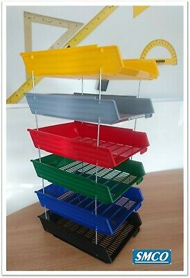 SMCO Letter Filing Trays A4 available in 6 Vibrant Colours