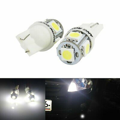 2x 5 SMD LED 501 194 T10 W5W Side Number Plate Interior Car Light Wedge Bulb 12V