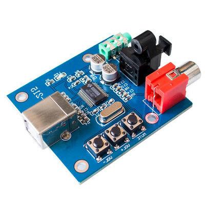 USB 3.5mm PCM2704 DAC to S/PDIF Sound Card Decoder Board Analog Output F/PC