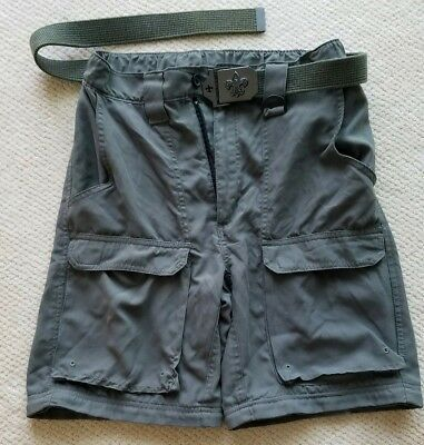 Boy Scouts of America Polyester Uniform Shorts with Belt - Boys Small