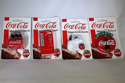 Coca Cola Magnets  Set of 4 Circa 1998 Officially Licensed - New Factory Sealed